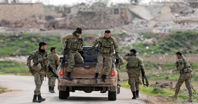 بدأت القوات التركية الصديقة والجيش