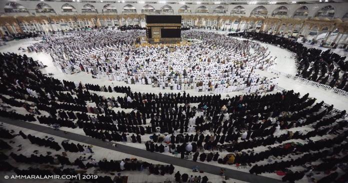 ظاهرة مكية مثيرة.. المسجد الحرام يتشح بالسواد.. وهذه الأسباب (صور)