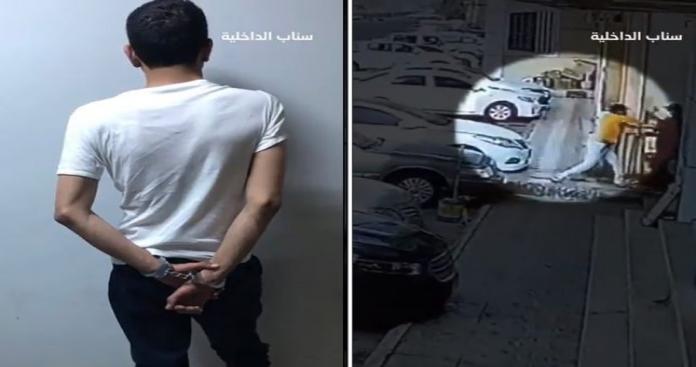 """شاهد.. """"الداخلية"""" السعودية تنشر مقطع فيديو لمواطن يطعن مقيمًا بآلة حادة في مقر عمله"""