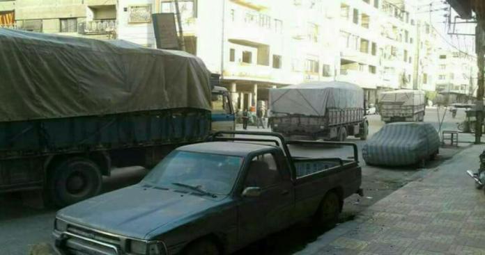 مقابل ماذا سمح النظام السوري دخول شاحنات البضائع إلى الغوطة
