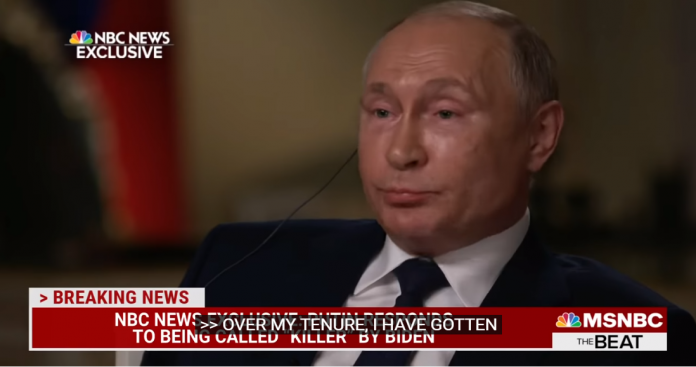 """قناة NBC: هذا هو جواب """"بوتين"""" على سؤال هل أنت قاتل؟ (فيديو)"""