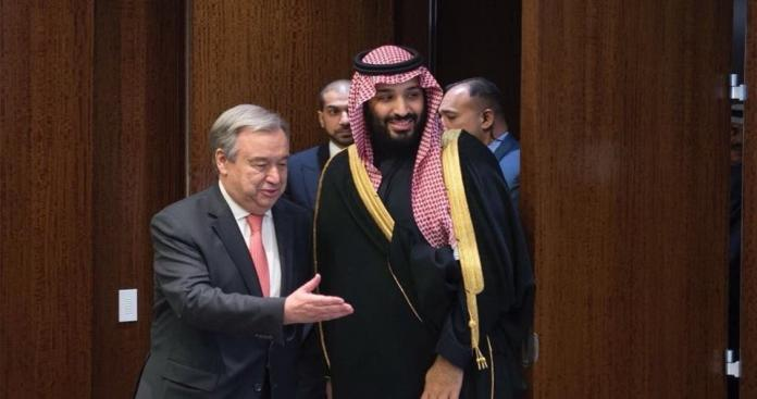 """""""محمد بن سلمان"""" يضع الأمين العام للأمم المتحدة في موقف """"محرج"""""""