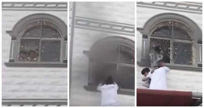 في موقف جرئ.. شابان سعوديان يتسلقان مبنى لإنقاذ أطفال من الحريق (فيديو)
