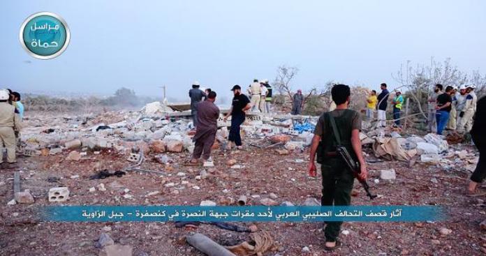 """قتلى في قصف جوي للتحالف على مقرات """"النصرة"""" بإدلب"""