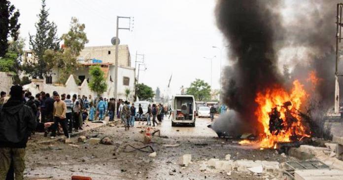 عشرات الضحايا بانفجار مجهول ضرب مدينة جسر الشغور بإدلب