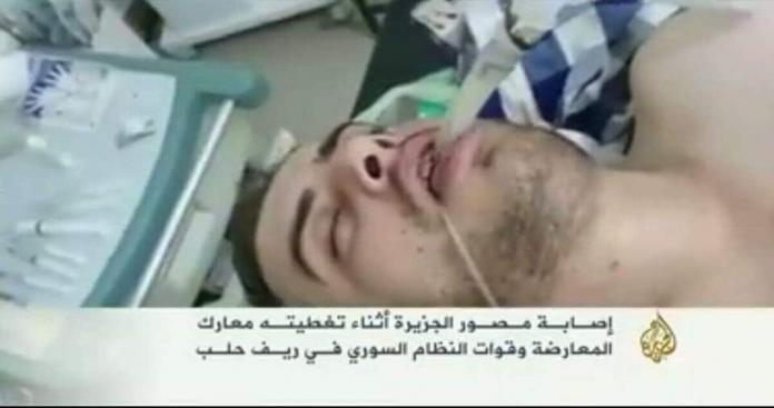 """قرار صادم من قناة """"الجزيرة"""" القطرية مع مراسل سوري أُصيب أثناء تغطية المعارك"""