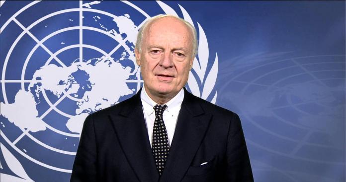 دي ميستورا يطالب روسيا بالضغط على نظام الأسد في جنيف ويحذر من تفكك سوريا