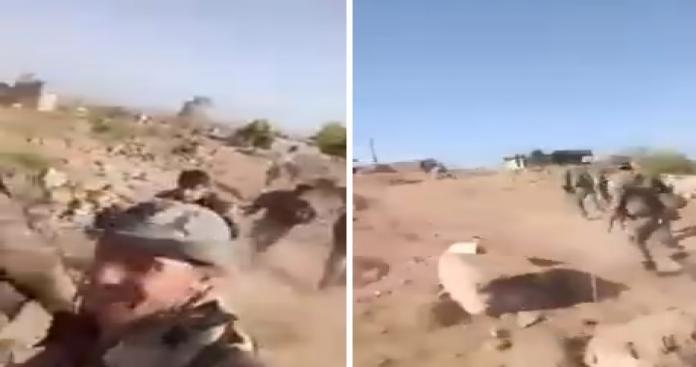 """""""رجال الله في الركض"""".. فرار جماعي لـ""""ميليشيات الأسد"""" تحت ضربات الثوار في حماة (فيديو)"""