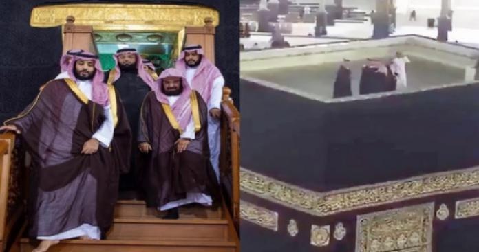محمد بن سلمان سيصعد على الكعبة مجددًا.. بدء تنفيذ المشروع الجدلي في المسجد الحرام (فيديو)