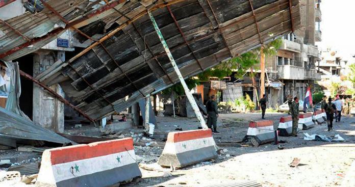 """عملية جديدة في دمشق.. عبوة ناسفة تستهدف حاجزًا لميليشيا """"سريا الصراع"""" وبرقية عاجلة تكشف مفاجأة"""