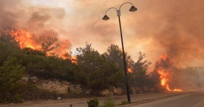 لبنان يحترق.. الطقس يقلب شمال البلاد ويحولها إلى قطعة من جهنم (فيديو)