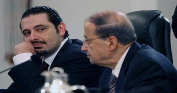 """الرئيس اللبناني يعارض شرط """"الحريري"""" ويصر على الدفاع عن """"حزب الله"""""""