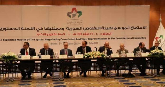 """موقف صادم لـ""""هيئة التفاوض"""" المشاركة بـ""""دستور سوريا الأسد"""" من عملية """"نبع السلام"""""""