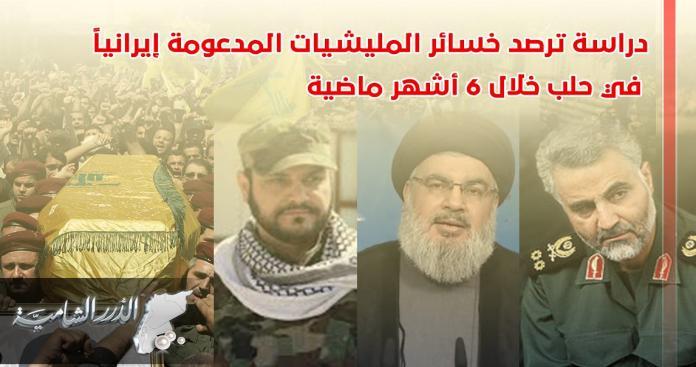 دراسة ترصد خسائر الميليشيات المدعومة إيرانيًّا في حلب خلال 6 أشهر ماضية