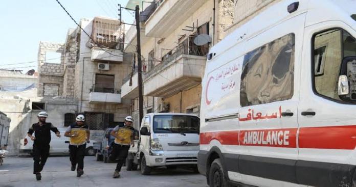 بعد مجزرة خان شيخون.. نظام الأسد يستخدم نوع جديد من القنابل في قصف إدلب ويوقع جرحى (صور)
