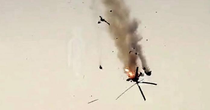 """الكشف عن هوية طاقم المروحية التي أسقطتها """"الوطنية للتحرير"""" غرب حلب (صور)"""