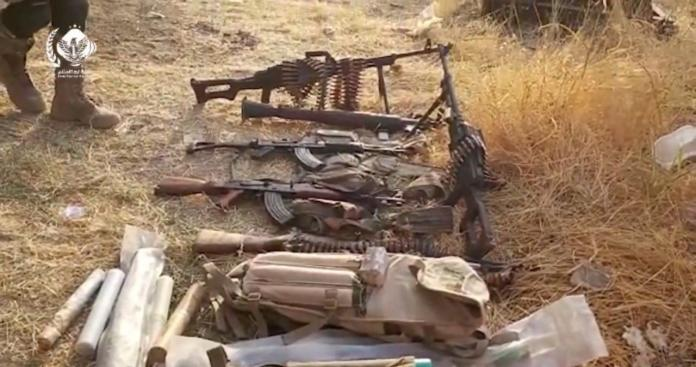 """الجيش الوطني السوري يغتنم أسلحة وذخائر متنوعة شرق الفرات ضمن عملية """"نبع السلام"""" (فيديو)"""