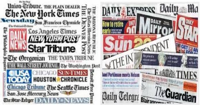 الصحافة العالمية اليوم