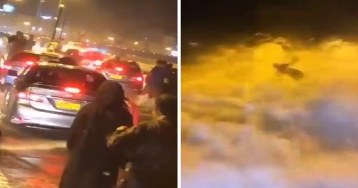 مشاهد مرعبة في شوارع سلطنة عمان.. نساء تصرخ وتوقف السيارات وفرار الناس (فيديو)
