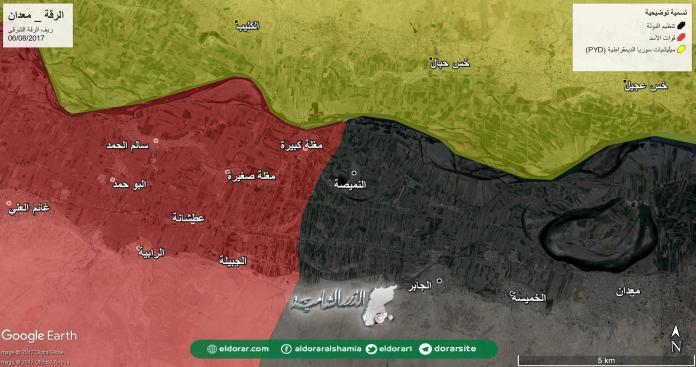 بدعم روسي .. قوات الأسد تتقدم على حساب تنظيم الدولة شرق الرقة