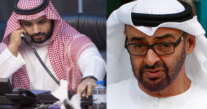 """مصدر أمني: رد صادم من """"ابن زايد"""" على محمد بن سلمان بشأن إجراء في اليمن"""