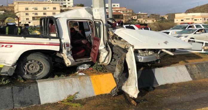 """طريق """"الجن"""" في السعودية.. السيارات تنزلق وتنشطر نصفين في حوادث مميتة (صور)"""