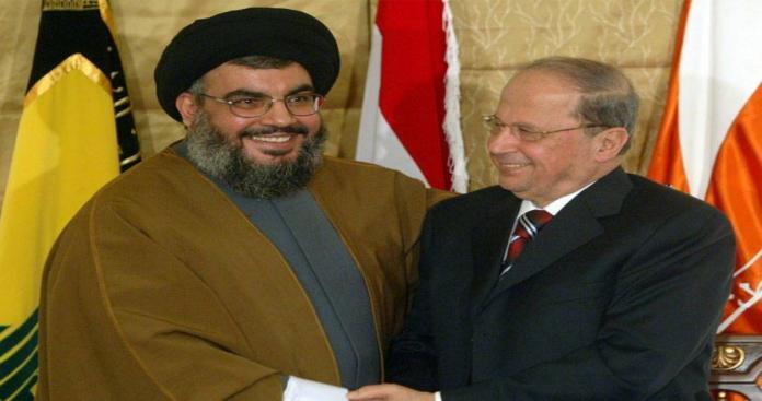 """الرئيس اللبناني يغرد خارج السرب العربي ويدافع عن سلاح """"حزب الله"""""""