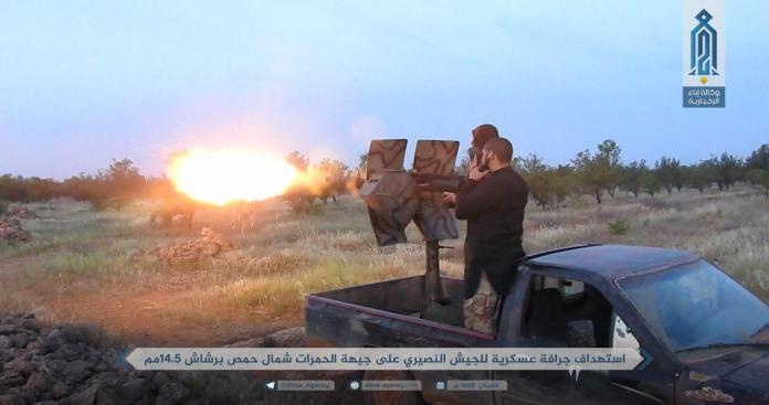 """""""تحرير الشام"""" تدُّك موقع النظام شمال حمص.. وتُكبِّده خسائر (صور)"""