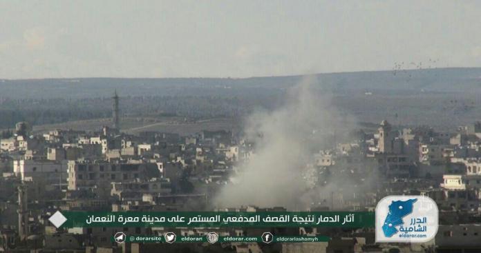 """نزوح نحو نقاط الأتراك.. قصف لا يهدأ من """"قوات الأسد"""" وروسيا على مدن وبلدات ريفي إدلب وحماة"""