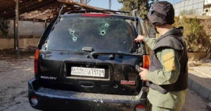 """بالفيديو.. استهدف فريق قناة """"العالم الإيرانية"""" بحرستا في ريف دمشق"""
