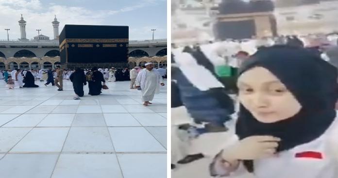 مشهد يهز المسجد الحرام.. أغانٍ شعبية أمام الكعبة وفتاة ترتكب فعلًا صادمًا (فيديو)
