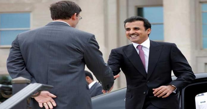 أمير قطر يعلن من واشنطن ما سيفعله في ظل اشتعال الأوضاع بالخليج