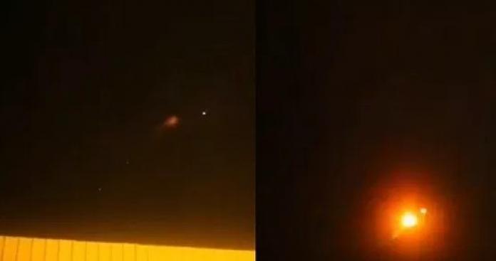 """انفجار ضخم يهز """"خميس مشيط"""" في السعودية.. وكرات النار تضيء السماء ليلًا (فيديو)"""