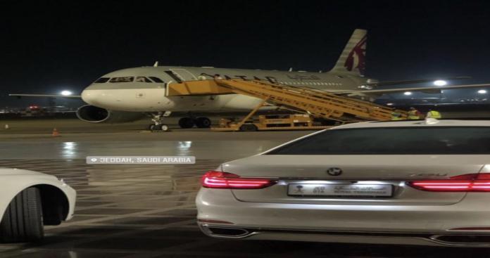 عاجل | مفاجأة من العيار الثقيل.. هبوط طائرة أمير قطر في جدة لأول مرة منذ الأزمة الخليجية (صورة)