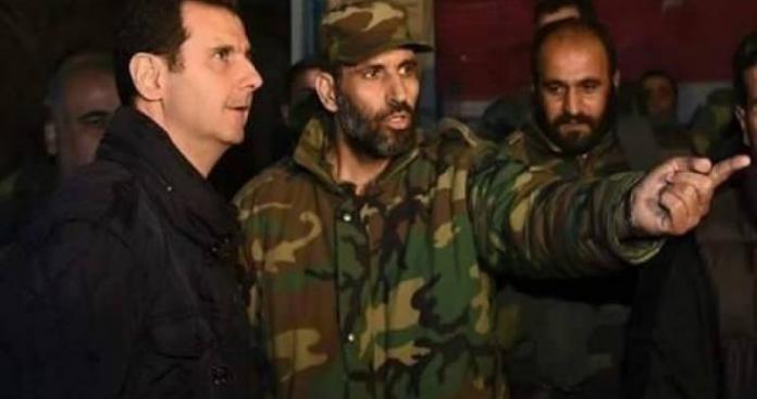 ضابط ظهر مع الأسد في الزبلطاني وقتل في الغوطة من قتله ؟
