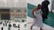 شاهد.. لحظة هروب الحجاج من صحن المطاف في المسجد الحرام