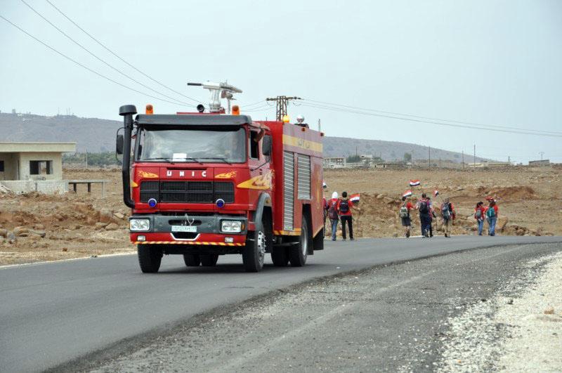 """تتعلق بـ""""شبيحة بيت البيج"""".. مهمة جديدة لم يعرفها العالم لـ""""سيارات الإطفاء"""" في """"سوريا الأسد"""""""
