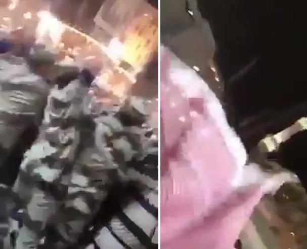 حادثة تهز المسجد الحرام.. 3 عسكريين سعوديين يرتكبون فعلًا صادمًا والنساء تصرخ (فيديو)
