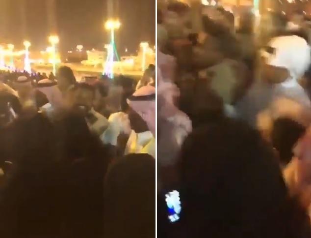 مشهد صادم يهز السعودية.. تحرش جماعي بالفتيات في موسم الرياض (فيديو)