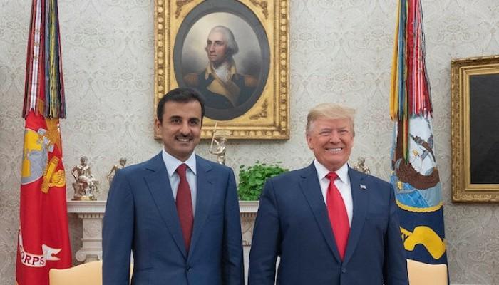 """بعد دعوته رفع العقوبات عن إيران.. إجراء عاجل من """"ترامب"""" مع أمير قطر"""