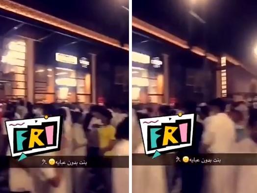 مشهد صادم.. هذا ما فعله شبان سعوديين لحظة رؤيتهم الحسناء الخالعة مشاعل الجلعود (صورة)