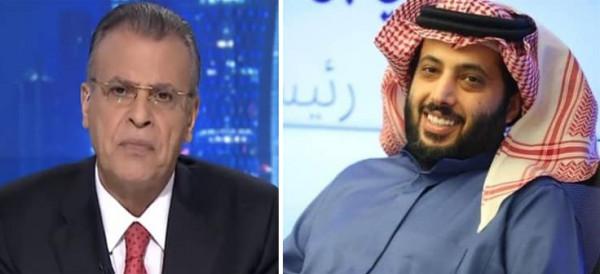 تركي آل الشيخ يقع في سقطة أخلاقية فاضحة على الملأ مع مذيع الجزيرة جمال ريان